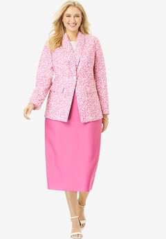 Single-Breasted Skirt Suit, ABSTRACT ANIMAL