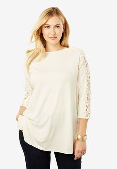 Lace Sleeve Tunic,