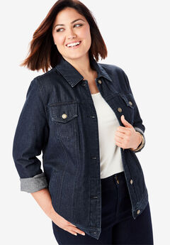 Classic Cotton Denim Jacket, INDIGO