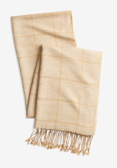 Long Scarf, SOFT CAMEL WINDOW PANE