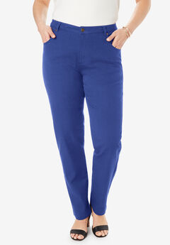 Classic Cotton Denim Straight Jeans, ULTRA BLUE