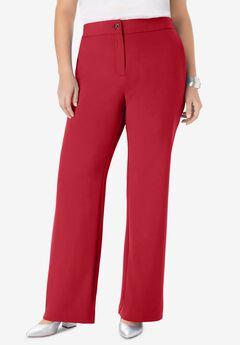Tummy Control Bi-Stretch Bootcut Pant, CLASSIC RED