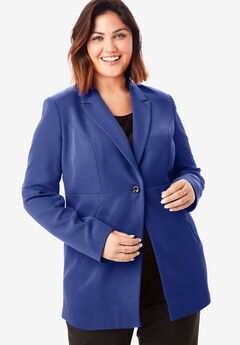 Bi-Stretch Blazer, ULTRA BLUE