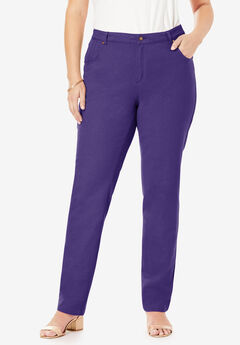 Classic Cotton Denim Straight Jeans, MIDNIGHT VIOLET