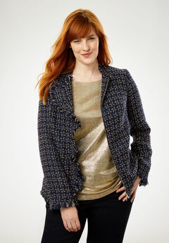 Sparkle Tweed Jacket,