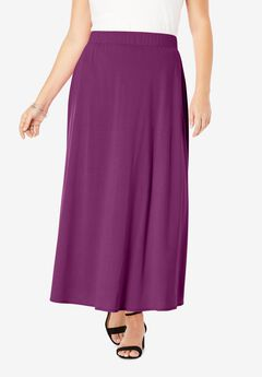 Everyday Knit Maxi Skirt, PURPLE TULIP