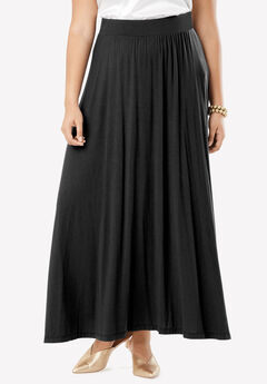 Everyday Knit Maxi Skirt, BLACK