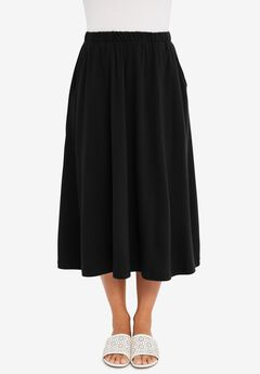 Soft Ease Midi Skirt,
