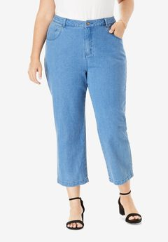 L-Pocket Denim Capris,