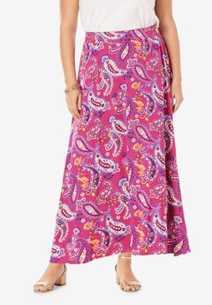 Everyday Knit Maxi Skirt, TROPICAL PLAYFUL PAISLEY