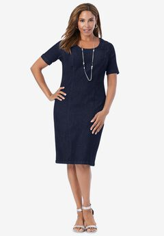 Denim Sheath Dress,