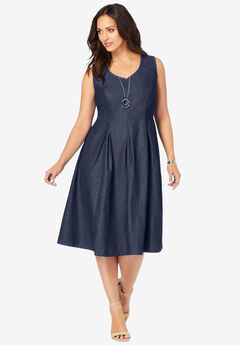 Cotton Denim Dress,