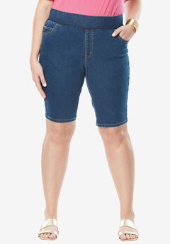 Comfort Waist Short, MEDIUM STONEWASH