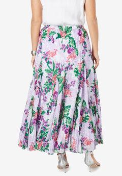 3af3acb2f4299 Cotton Crinkled Maxi Skirt