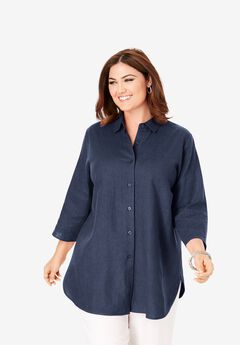 Linen Tunic, NAVY