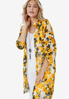 Mega Tunic, YELLOW GRAPHIC GARDEN