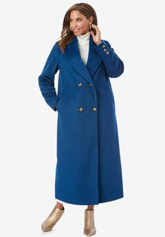 Long Shawl Collar Coat, OCEAN TEAL