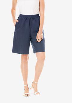 Linen Short, NAVY