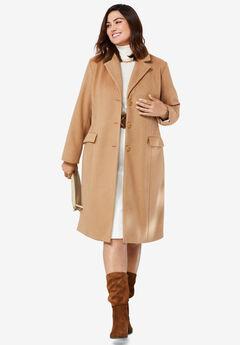 Notch Collar Coat, SOFT CAMEL