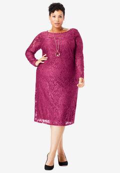 Lace Shift Dress, BERRY TWIST