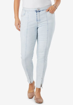 Front Seam Ankle Jean, BLEACH