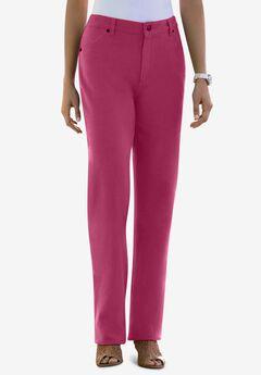 Classic Cotton Denim Straight Jeans, BERRY TWIST
