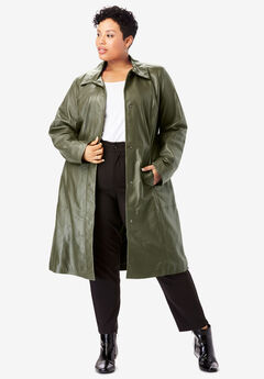 Trench Coat, DARK OLIVE GREEN