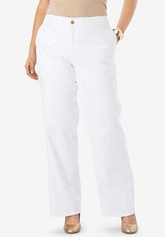 Refined Denim Trouser, WHITE