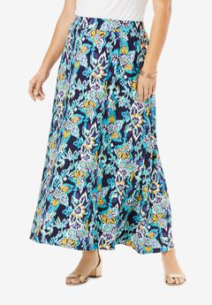 Everyday Knit Maxi Skirt, COOL FOLK IKAT