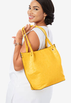 Embossed Tote, SUNSHINE YELLOW