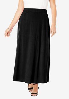 Everyday Knit Maxi Skirt, BLACK