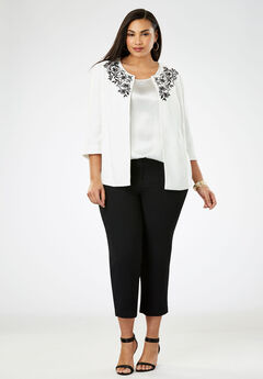 Embroidered Pant Suit,