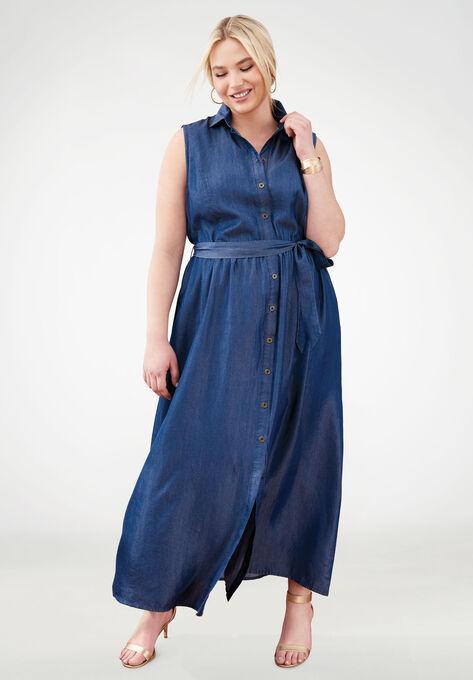 Tencel® Fit & Flare Maxi Dress