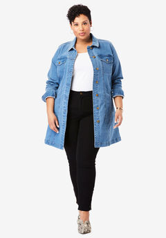 Long Denim Jacket,
