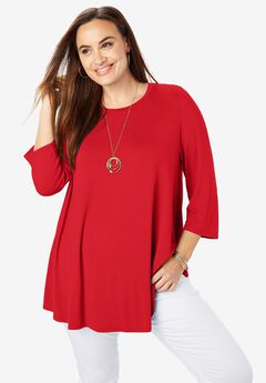 Trapeze Tunic, HOT RED