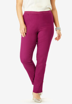 Straight Leg Stretch Denim Jeggings, BERRY TWIST