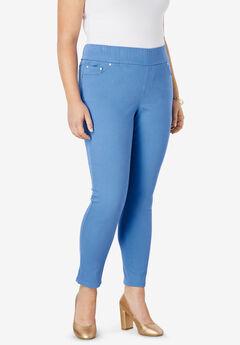 Comfort Waist Skinny Ankle Jean, HORIZON BLUE