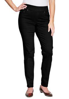 Comfort Waistband Jeans, BLACK