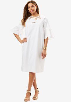 Applique A-Line Dress,