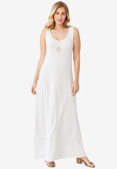 Tank Maxi Dress, WHITE