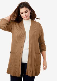 Rib Cardigan Sweater,