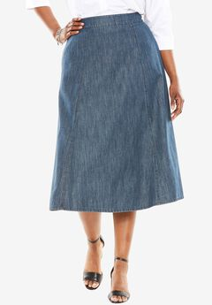A-Line Denim Skirt,