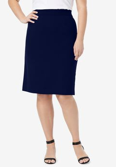 Bi-Stretch Pencil Skirt, NAVY