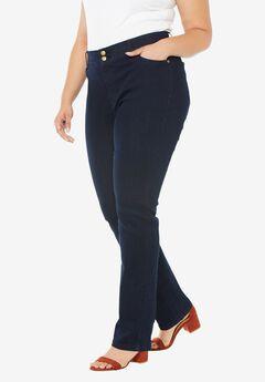 Tummy Control Straight Jean, INDIGO