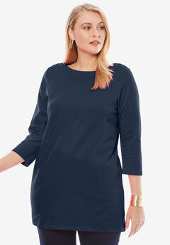 Boatneck Tunic, NAVY