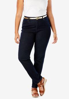 JL Sculpt Denim Straight-Leg Jean, INDIGO WASH