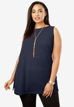 Travel Knit Tunic, NAVY