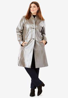 Leather Swing Coat,