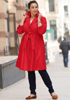 Pleated Trench Coat,