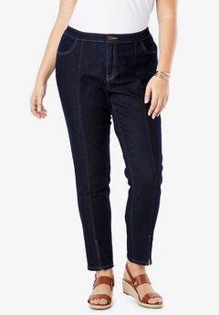 Front Seam Ankle Jean, INDIGO